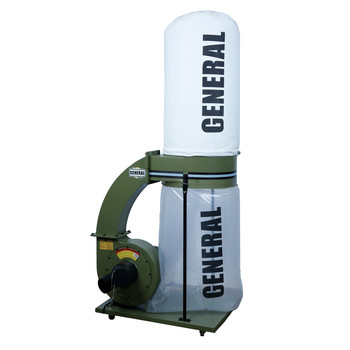 General International 10-110 M1 2 HP Industrial Dust Collector with 2 Micron Bag