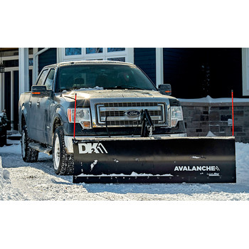 Detail K2 AVAL8219ELT Avalanche ELITE 82 in. x 19 in. Heavy Duty UNIVERSAL T-Frame Snow Plow Kit with ACT8020 Actuator and EWX004 Wireless Remote image number 2