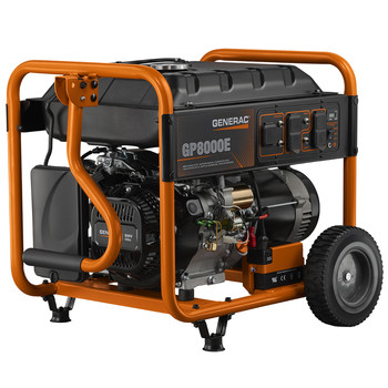 Factory Reconditioned Generac 6931R 420cc Gas 8,000 Watts Portable Generator with Cord image number 1