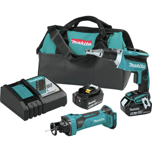Makita XT255T 18V LXT 5.0 Ah Lithium-Ion Cordless 2-Pc. Combo Kit image number 0