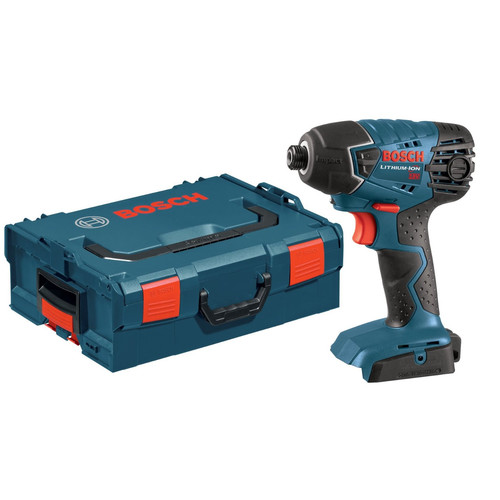 Factory Reconditioned Bosch 25618BL-RT 18V Impact Driver (Bare Tool) with L-Boxx-2 and Exact-Fit Tool Insert Tray