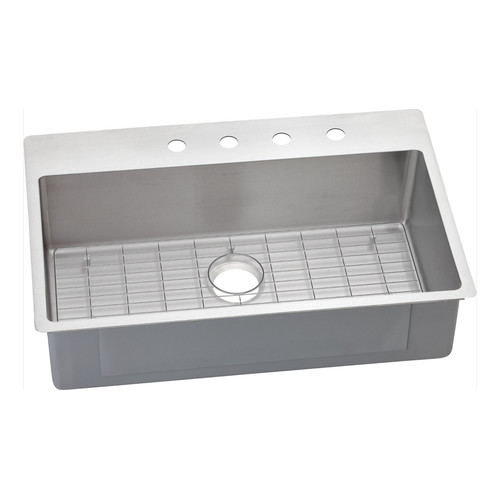 Elkay ECTSRS33229BGFR2 Crosstown Universal Mount 33 in. x 22 in. Single Basin Kitchen Sink (Stainless Steel)