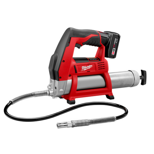 Milwaukee 2446-21XC M12 12V Cordless Lithium-Ion Grease Gun Kit with XC Battery image number 0