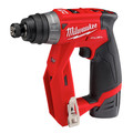 Milwaukee 2505-24-CPO M12 REDLITHIUM CP 1.5 Ah Lithium-Ion Compact Battery (2-Pack) plus Shockwave 15-Piece Tin Kit plus M12 FUEL Lithium-Ion 3/8 in. Cordless Installation Drill image number 4