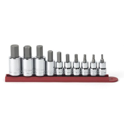 GearWrench 80579 10 pc. 3/8 in. and 1/4 in. Dr. SAE Hex Bit Socket Set