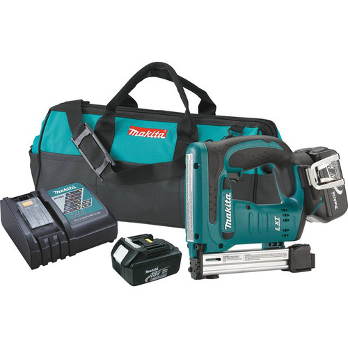 Makita XTS01 18V LXT 3.0 Ah Cordless Lithium-Ion 3/8 in. Crown Stapler Kit