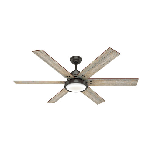 Hunter 59461 60 in. Warrant Ceiling Fan with Wall Control and LED Light Kit (Noble Bronze) image number 0