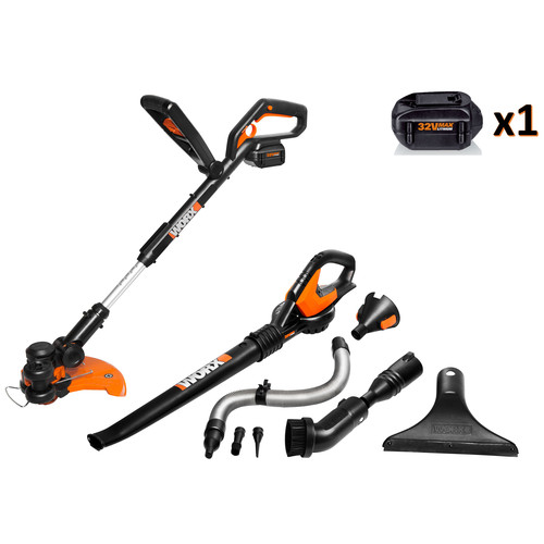 Worx WG924.1 32V Max 2-Piece Lithium-Ion String Trimmer & Leaf Blower Combo Kit