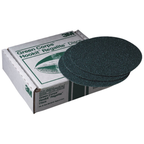 3M 521 Green Corps Hookit Regalite Disc 8 in. 80E (25-Pack)