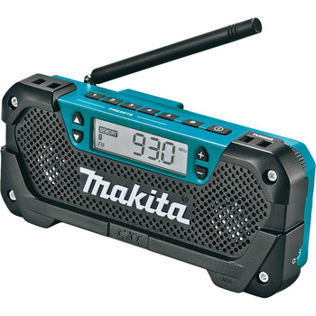 Makita RM02 12V max CXT Cordless Lithium-Ion Compact Job Site Radio (Tool Only)