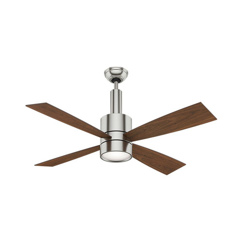 Casablanca 59068 Bullet 54 in. Contemporary Brushed Nickel Burnt Walnut Indoor Ceiling Fan