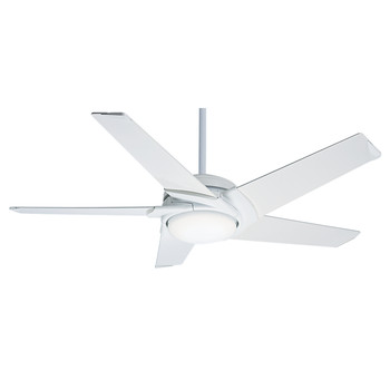 Casablanca 59165 54 in. Stealth DC Snow White Ceiling Fan with Light and Remote