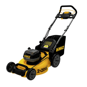 Dewalt DCMW220X2 20V MAX Brushless Lithium-Ion Walk Behind 3-in-1 20 in. Cordless Push Lawn Mower (9 Ah)