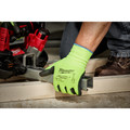 Milwaukee 48-73-8921B 12-Piece Cut Level 2 High Visibility Polyurethane Dipped Gloves - Medium image number 2