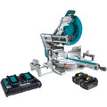 Makita XSL08PT 18V X2 LXT Lithium-Ion (36V) Brushless Cordless 12 in. Dual-Bevel Sliding Compound Miter Saw Kit with AWS and Laser (5 Ah) image number 0
