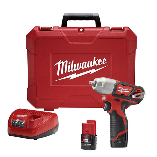 Factory Reconditioned Milwaukee 2463-82 M12 Li-Ion 3/8 in. Impact Wrench Kit