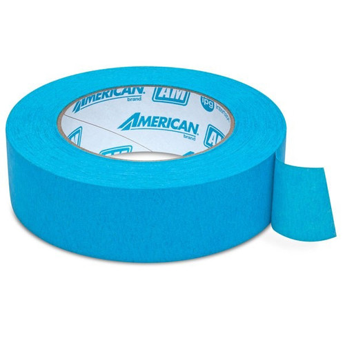 American Tape AM-1.5 1.5 in. Aqua Mask Masking Tape image number 0