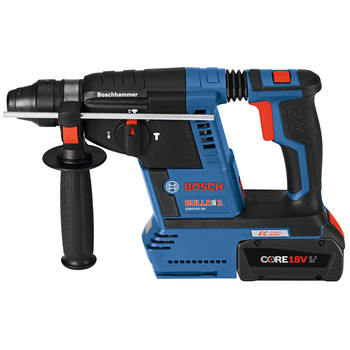 Factory Reconditioned Bosch GBH18V-26K24-RT 6.3 Ah Cordless Lithium-Ion Brushless 1 in. SDS-Plus Bulldog Rotary Hammer Kit image number 1
