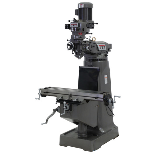 JET JTM-2 9 in. x 42 in. 2 HP 1-Phase R-8 Taper Vertical Milling Machine image number 0