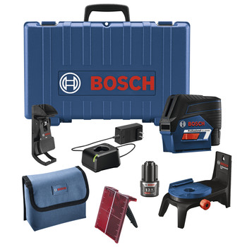 Bosch GCL100-80C 12V Cross-Line Laser with Plumb Points image number 0