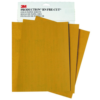 3M 2539 Production Resinite Gold Sheet 9 in. x 11 in. P400A (50-Pack)