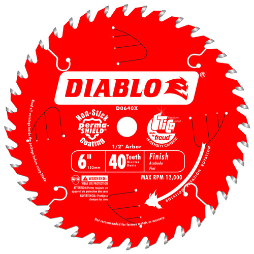 Diablo D0640X 6 in. 40 Tooth Finishing Saw Blade