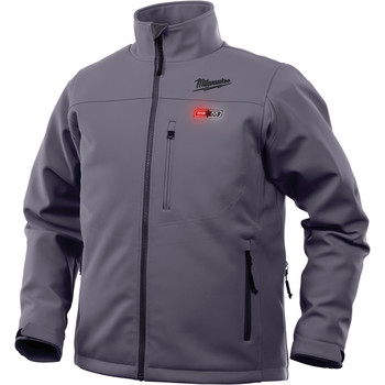 Milwaukee 202G-212X M12 Heated TOUGHSHELL Jacket Kit - Gray, 2X image number 2