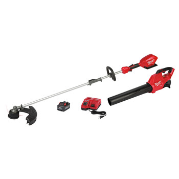 Milwaukee 3000-21 M18 FUEL Brushless Lithium-Ion Cordless String Trimmer with QUIK-LOK / Blower Combo Kit (8 Ah)