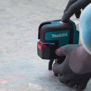 Makita SK106DZ 12V MAX CXT Lithium-Ion Cordless Self-Leveling Cross-Line/4-Point Red Beam Laser (Tool Only) image number 11