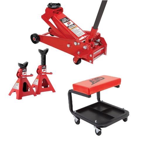 ATD 7500MC 3-Ton Jack Pack with Mechanic's Padded Creeper Seat