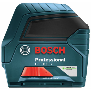 Bosch GLL100G Green Beam Self-Leveling Cross Line Laser image number 2