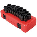 Sunex 2645 26-Piece 1/2 in. Drive Metric Impact Socket Set image number 0