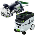 Festool DF 700 Domino XL Joiner with CT 26 E 6.9 Gallon HEPA Mobile Dust Extractor