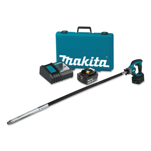 Makita XRV01T 18V LXT 5.0 Ah Cordless Lithium-Ion 4 ft.Concrete Vibrator Kit