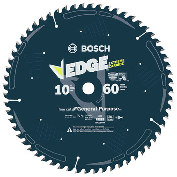 Bosch DCB1060 Daredevil 10 in. 60 Tooth Fine Finish Circular Saw Blade image number 0