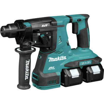 Makita XRH08PT 18V X2 LXT Lithium-Ion (36V) 5.0 Ah Brushless 1-1/8 in. AVT Rotary Hammer Kit image number 1