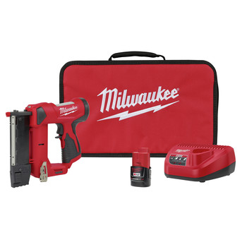 Milwaukee 2540-21 M12 Compact Lithium-Ion 23 Gauge Cordless Pin Nailer Kit (1.5 Ah)