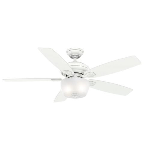 Casablanca 54041 52 in. Utopian Gallery Snow White Ceiling Fan with Light with Wall Control