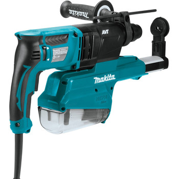 Makita HR2651 7 Amp 1 in. Pistol-Grip Rotary Hammer with HEPA Extractor image number 2