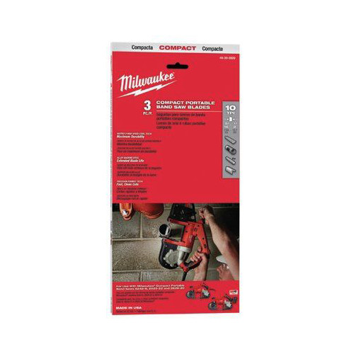Milwaukee 48-39-0508 10 TPI Compact Band Saw Blade image number 1
