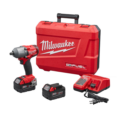 Milwaukee 2860-22 M18 FUEL 1/2 in. Mid-Torque Impact Wrench Kit with Pin Detent image number 0