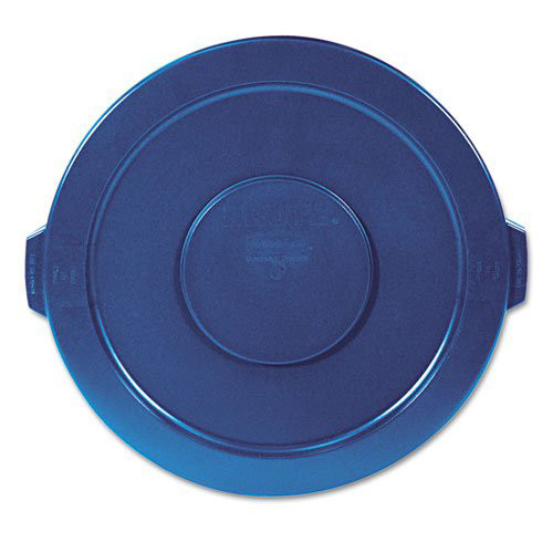 Rubbermaid 263100BE Round Flat Top Lid (Blue) for 22-1/4 in. Brute Containers
