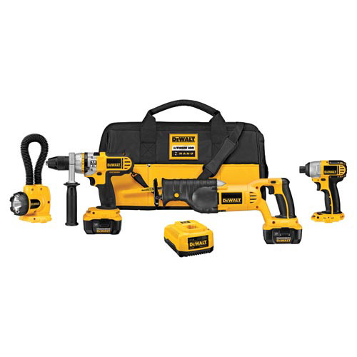 Factory Reconditioned Dewalt DCK475LR 18V XRP Cordless Lithium-Ion 4-Tool Combo Kit