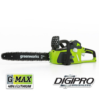 Greenworks 20312 40V G-MAX Lithium-Ion DigiPro Brushless 16 in. Chainsaw Kit