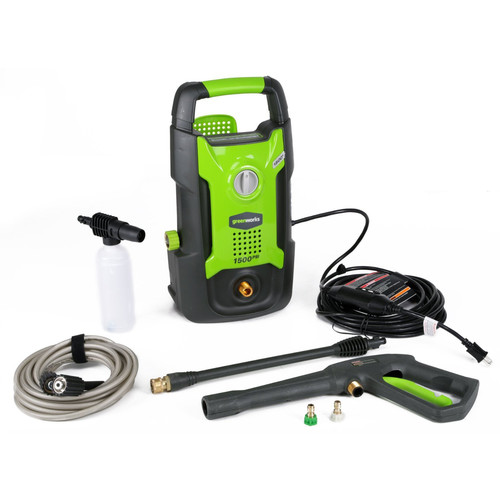 Greenworks GPW1501 13 Amp 1,500 PSI 1.2 GPM Electric Pressure Washer