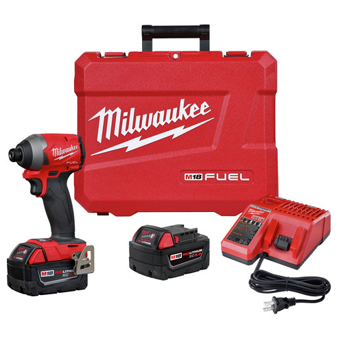Milwaukee 2760-22 M18 FUEL SURGE Brushless Lithium-Ion 1/4 in. Cordless Hex Hydraulic Driver Kit (5 Ah) image number 0