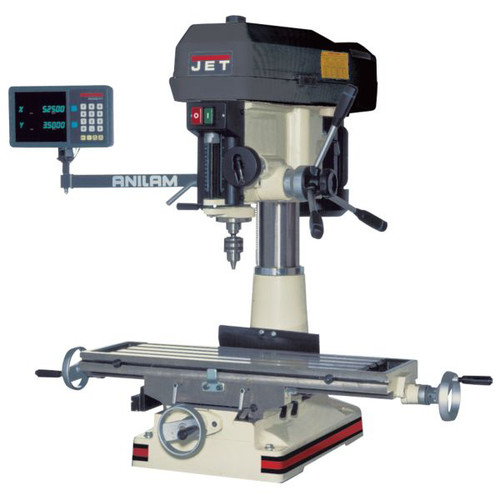 JET JMD-15 Milling/Drilling Machine with NEWALL C80 DRO Installed image number 0