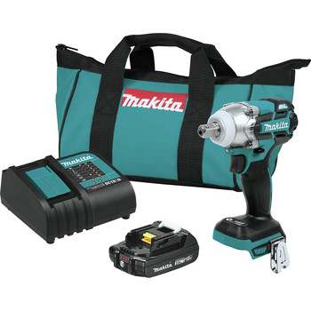 Makita XWT11SR1 18V LXT Lithium-Ion Compact Brushless Cordless 3-Speed 1/2 in. Square Drive Impact Wrench Kit (2 Ah)
