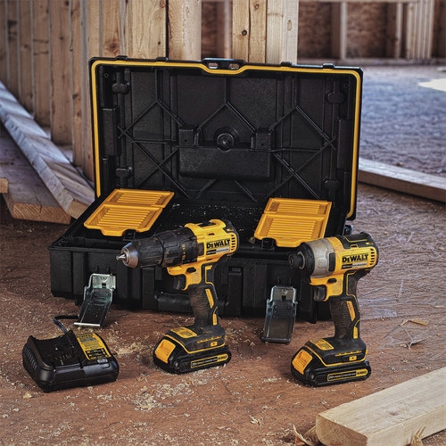 Factory Reconditioned Dewalt DCKTS277C2R 20V MAX Drill/Impact Tool with ToughSystem Kit Box image number 1