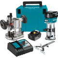 Makita XTR01T7 18V LXT 5.0 Ah Cordless Lithium-Ion Brushless Compact Router Kit image number 0